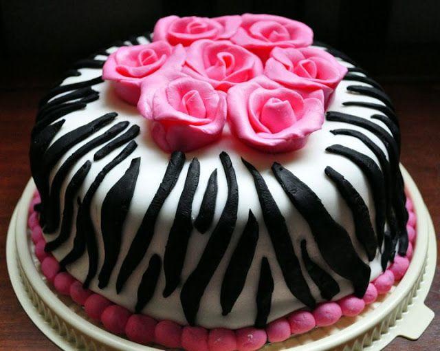 9year Old Birthday Cupcakes Hot Pink Zebra Print Cake