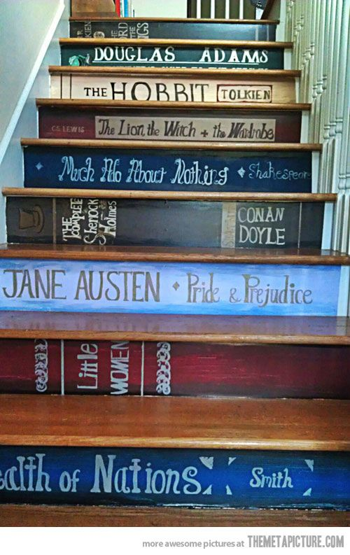 Cute stairs for bookworms :-)