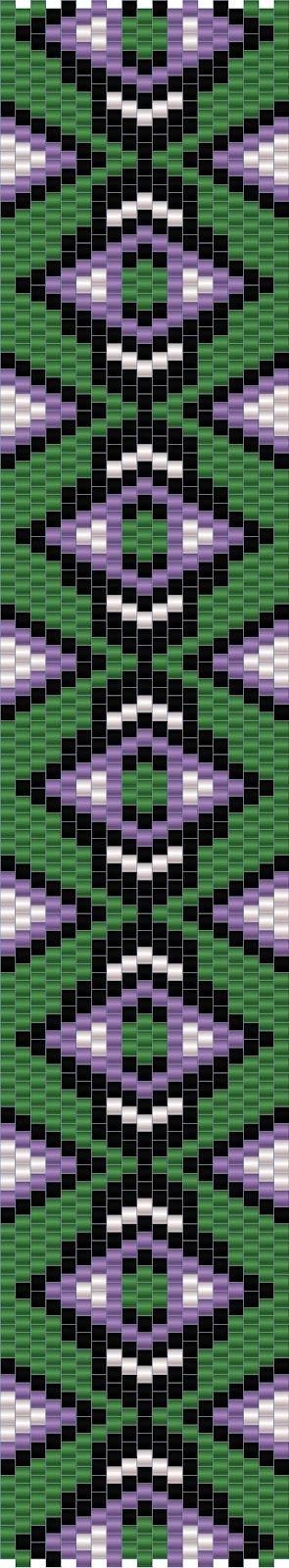 10 схем мозаичных браслетов / 10 free peyote patterns | - Схемы для бисероплетения / Free bead patterns -