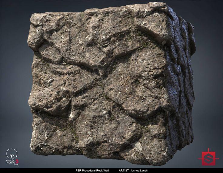 ArtStation - PBR Procedural Rock Wall Material Study 01, Joshua Lynch