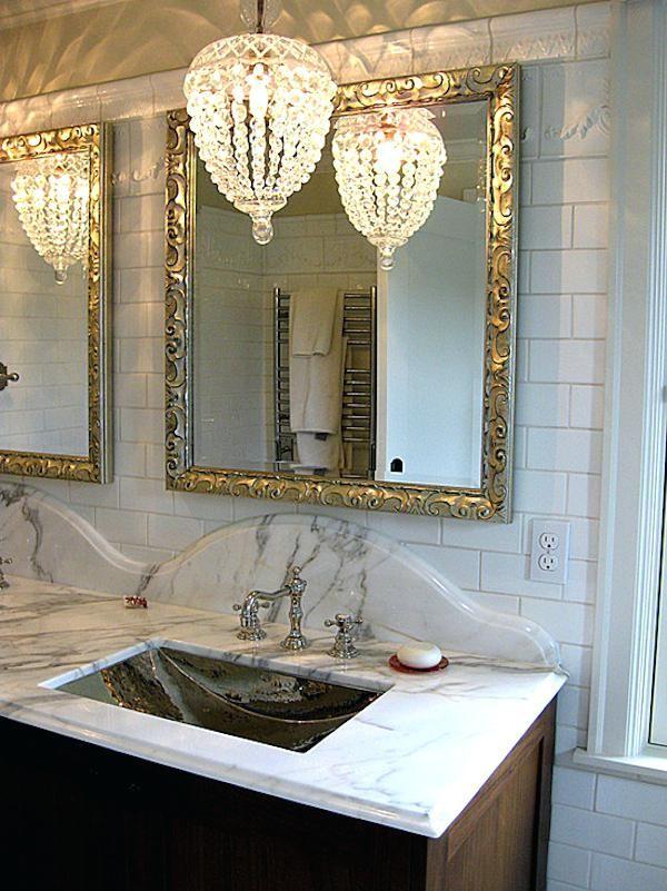 Stunning Bathroom Chandeliers Crystal Design Hixpce Info