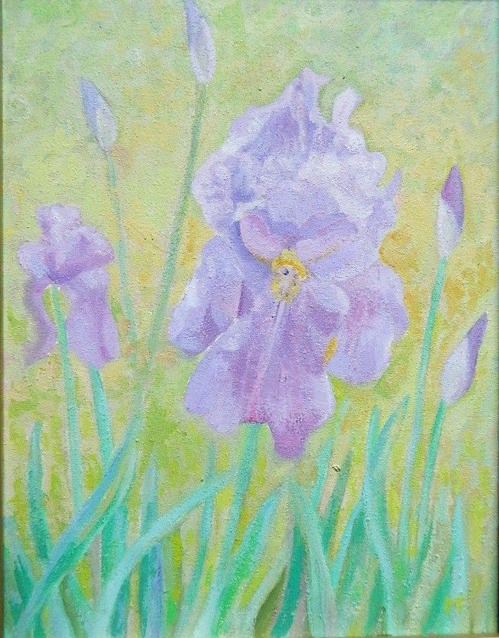 iris,  oil on canvas    30/40cm . by Albapainting on Etsy
