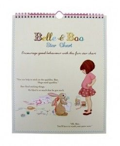 Belle & Boo Star Chart $21.95 #sweetcreations #education #family #organisation #learning #charts