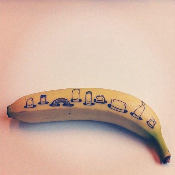 """Matt Dolphin, """"Banana Drawing"""" #1"""