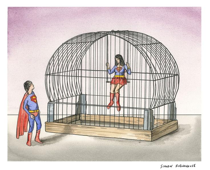 Superman Birdcage