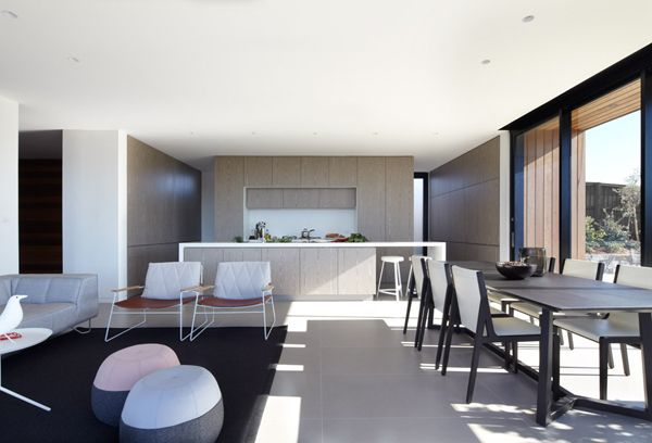 Lamble Residence // Smart Design Studio -Australian modern coastal architecture and interior design - minimal open plan living, lounge, dining and Kitchen