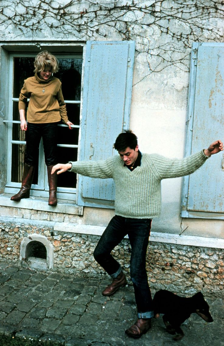 Alain Delon With Romy Schneider, 1959