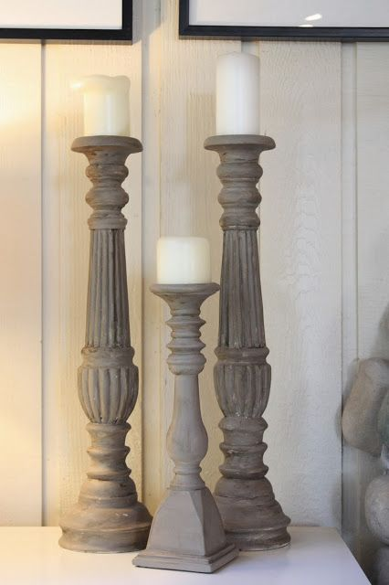 My Sweet Savannah: ~chalk painted candlesticks~ annie sloan cocoa paint
