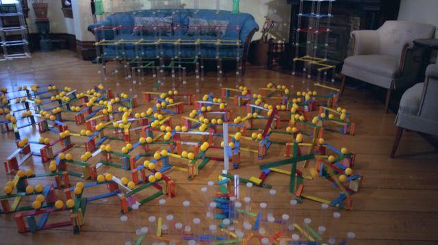 Massive Rube Goldberg Chain Reaction for A-Trak & Tommy Trash's 'Tuna Melt'