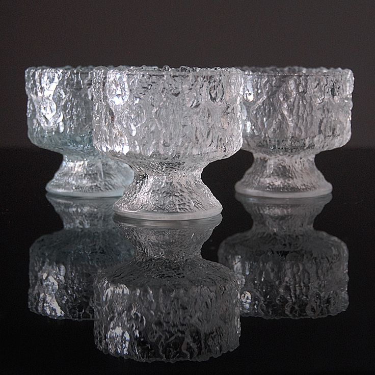 Trzy pucharki Iittala | Three Iittala cups | buy on Patyna.pl  #glasses # glass #cups #Iittala #texture #transparent #Sweden #Scandinavian #design #retro #vintage #vintagelove #70s #1970s #lubierzeczy #kitchen