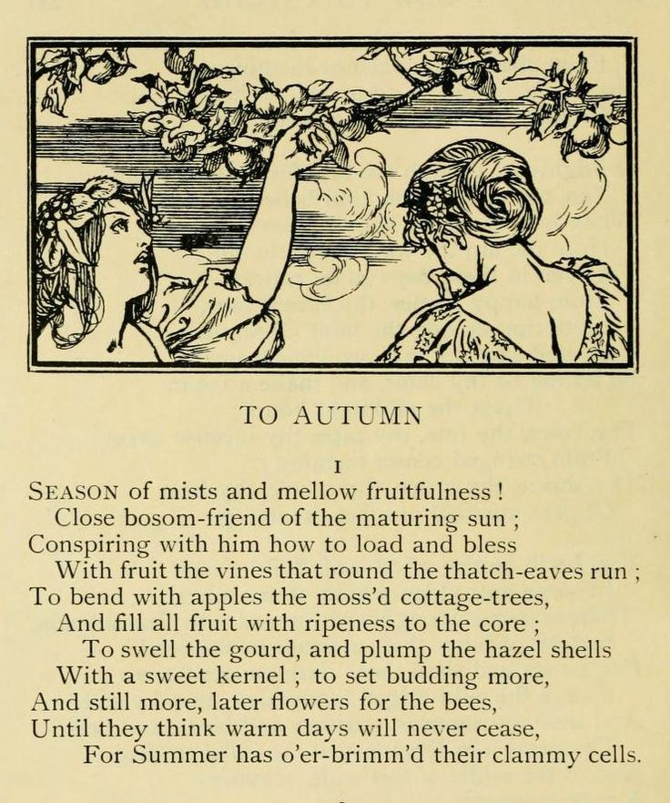 the magnificence of autumn in john keats to autumn An essay or paper on john keats' the magnificence of autumn john keats, an english poet, was an influential figure of the romantic movement keats was born in london in 1816, he became a licensed druggist, but he never practiced the profession keats' first published poems appeared in 1816 in.