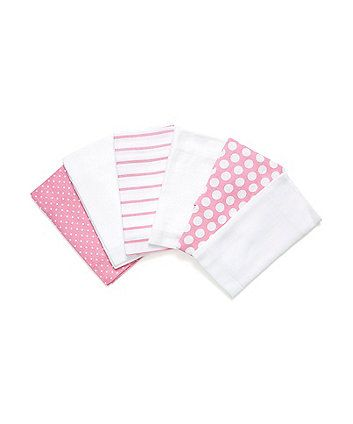 Mothercare Butterfly Fields  Muslins - 6 Pack
