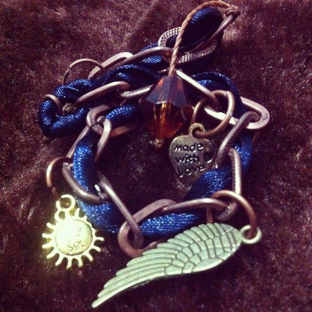 Pulsera Azul, Ala, Sol, Corazon $3500
