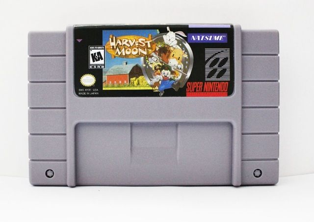 Harvest Moon USA Version 16 bit Big Gray Game Card For NTSC Game Player