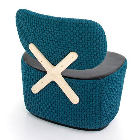 Richard Hutten's X-Chair for Moroso is designed to be seen from behind.