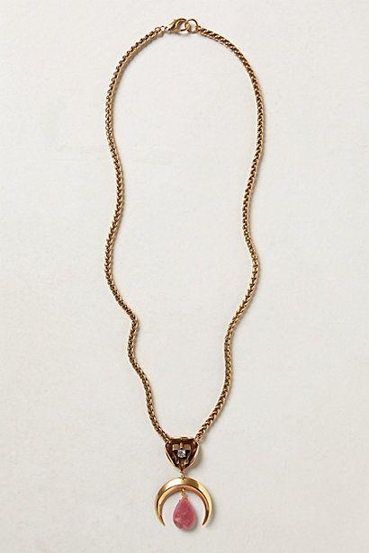 Jade Crescent Pendant Necklace