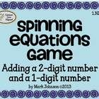 """Students play a game called, """"Spinning Equations"""". They spin a 2-digit number spinner and a 1-digit number spinner, record the two numbers on a rec..."""