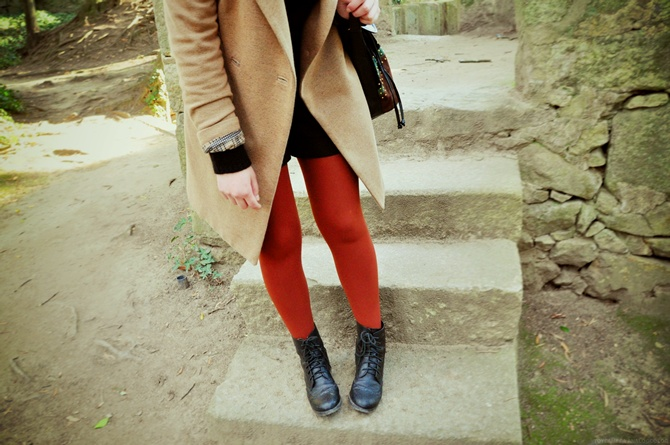 orange tights!