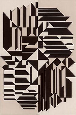 Victor Vasarely, Geminorum, 1956-59. Royal Art Museum, Brussels. Source