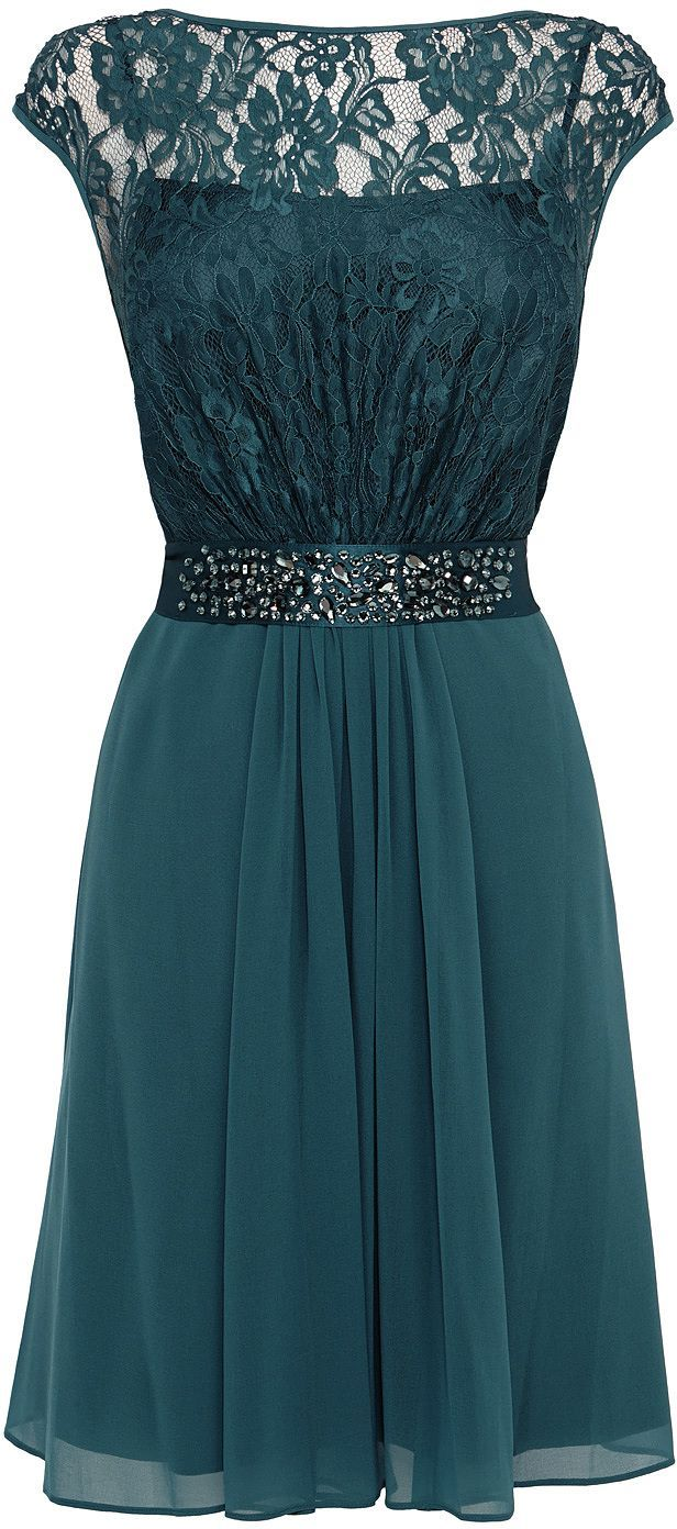 Teal Lace Embroidered Swing Dress | Dresses | Pinterest | Swings ...
