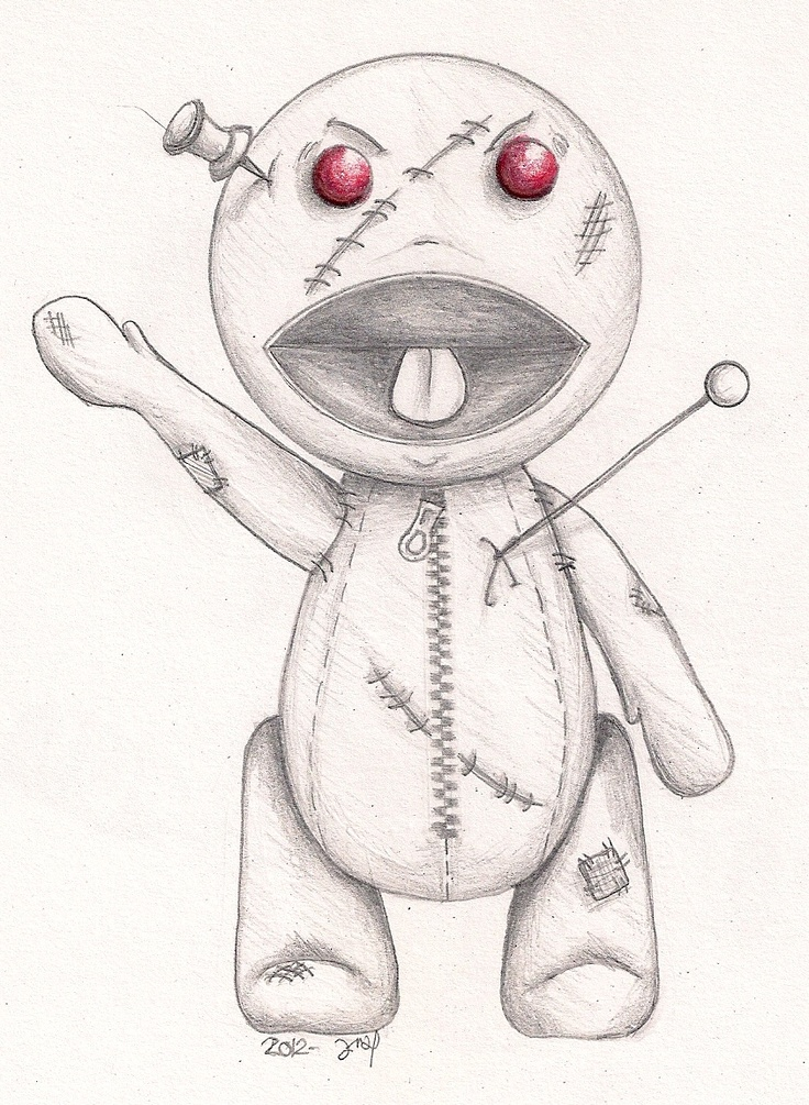 voodoo doll drawings - 736×1005