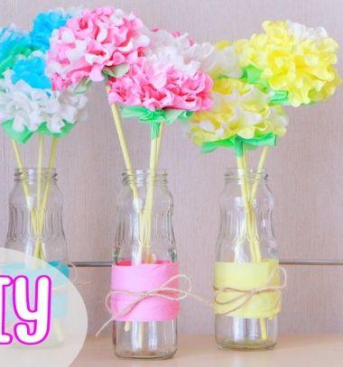 Gyönyörű virágok papír szalvétából pillanatok alatt / Mindy -  kreatív ötletek és dekorációk minden napra