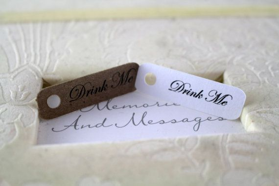 Mini Drink Me Tags Perfect for Favors or by SillyLoveSongCustoms