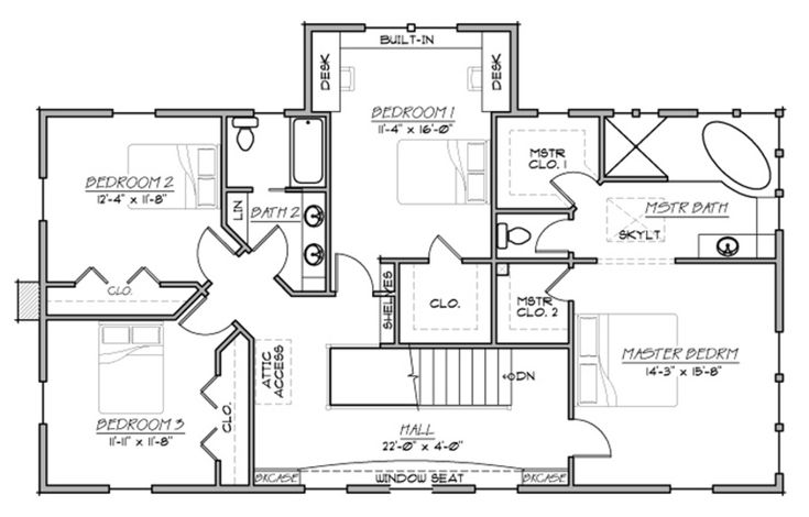 Country style house plan farmhouse two story 4 bedroom for 2nd story floor plans