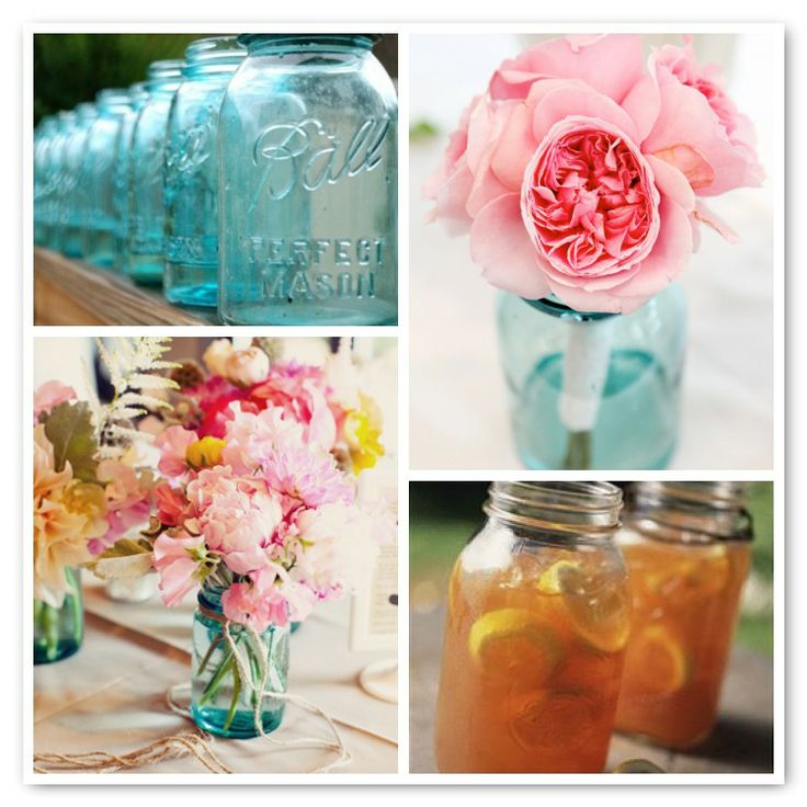 Mason jar centerpiece ideas half orange wedding pinterest
