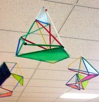 5th grade art - Straw Sculptures