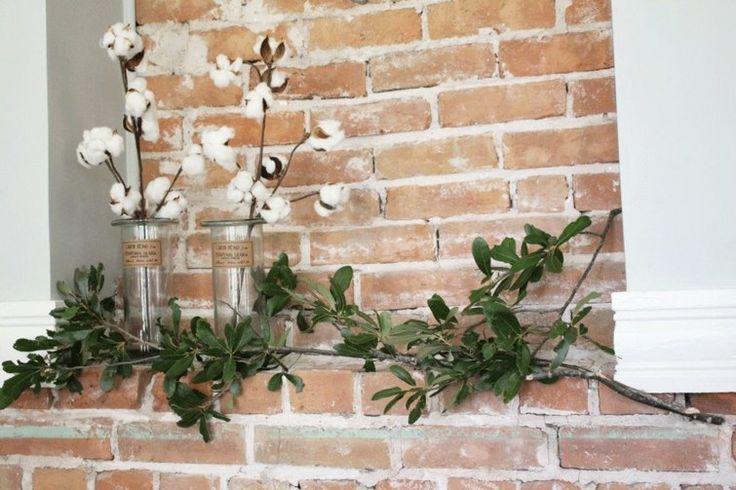 déco nature avec des branches de coton