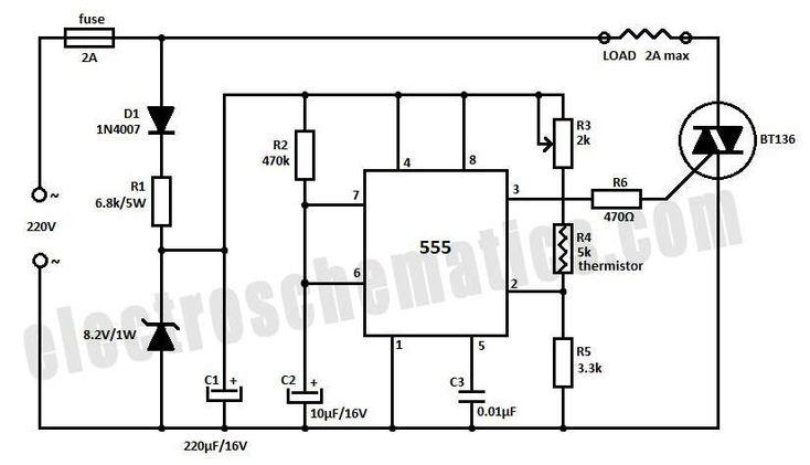 temperature controller circuit schematic