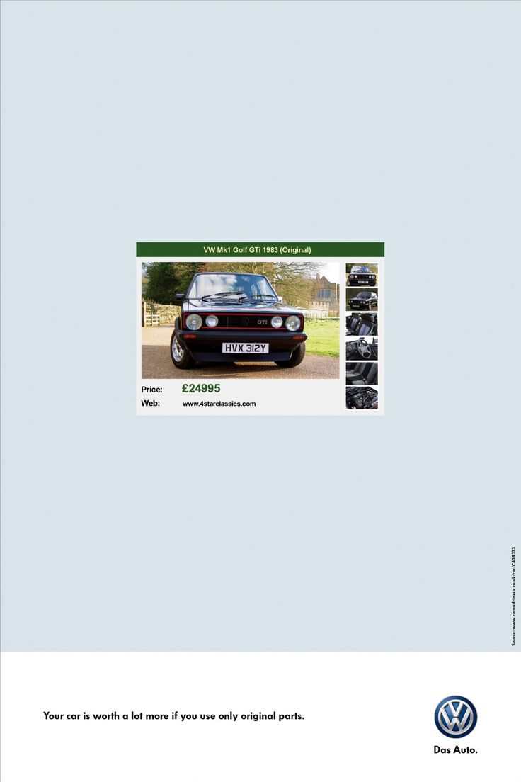 Read more: https://www.luerzersarchive.com/en/magazine/print-detail/vw-volkswagen-56436.html VW Volkswagen VW Mk1 Gold GTi 1983 (Original). Price: £24995. Web: www.4starclassics.com Pay-Off: Your car is worth a lot more if you use only original parts. Tags: Renato Simões,Bruno Prosperi,Luiz Sanches,VW Volkswagen,Leandro Valente,Tiago Pinho,Leandro Marchiori,AlmapBBDO, Sao Paulo