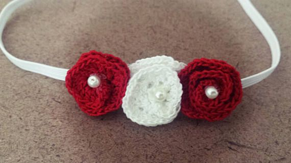 Crochet flower Headband Elastic Band Headband Photography