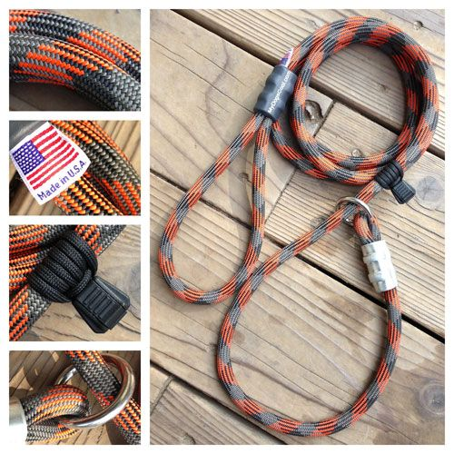 """Climbing Rope Dog Leashes, Slip Leads, and Collars - """"Made in the USA"""""""