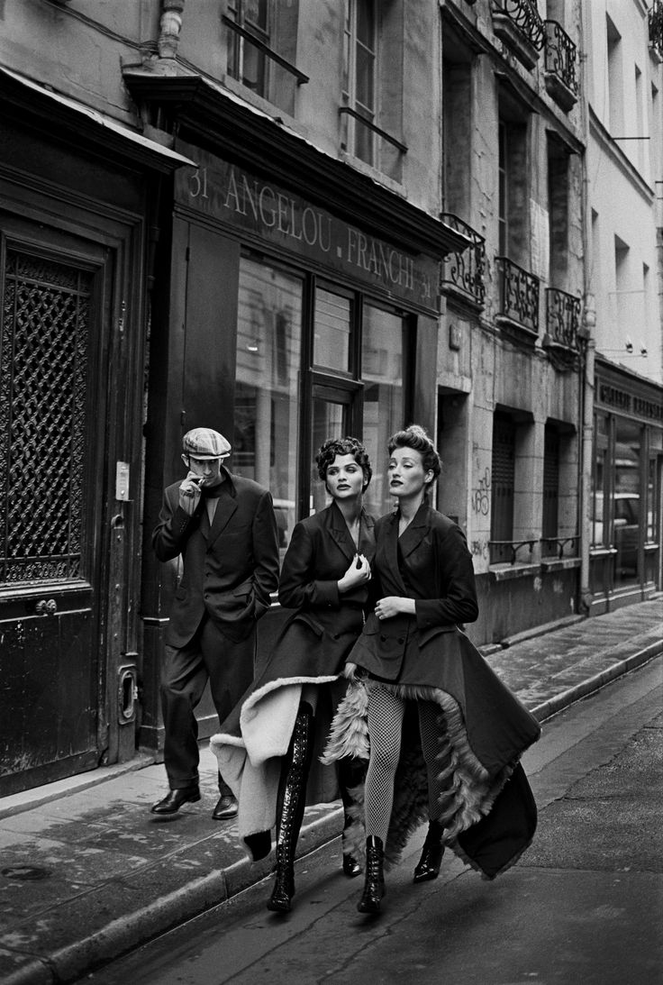 """""""LIONEL VERMEIL, HELENA CHRISTENSEN & MARIE-SOPHIE WILSON, PARIS,"""" 1990. VOGUE PARIS, JEAN PAUL GAULTIER, S/S 1991."""
