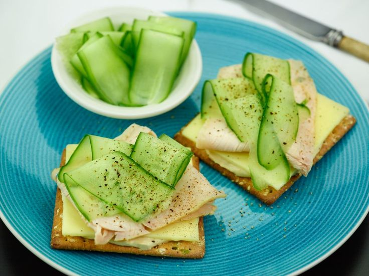 Turkey with hummus, cheddar & cucumber - recipe courtesy of Campbell Arnotts