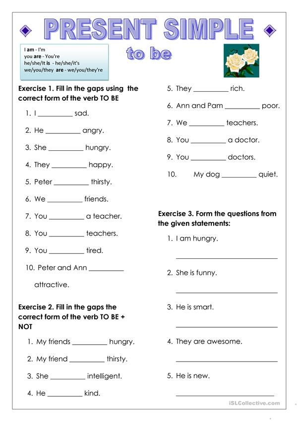 To Be And Have Got, Present Simple English Teaching Materials, English  Grammar For Kids, English Grammar Worksheets