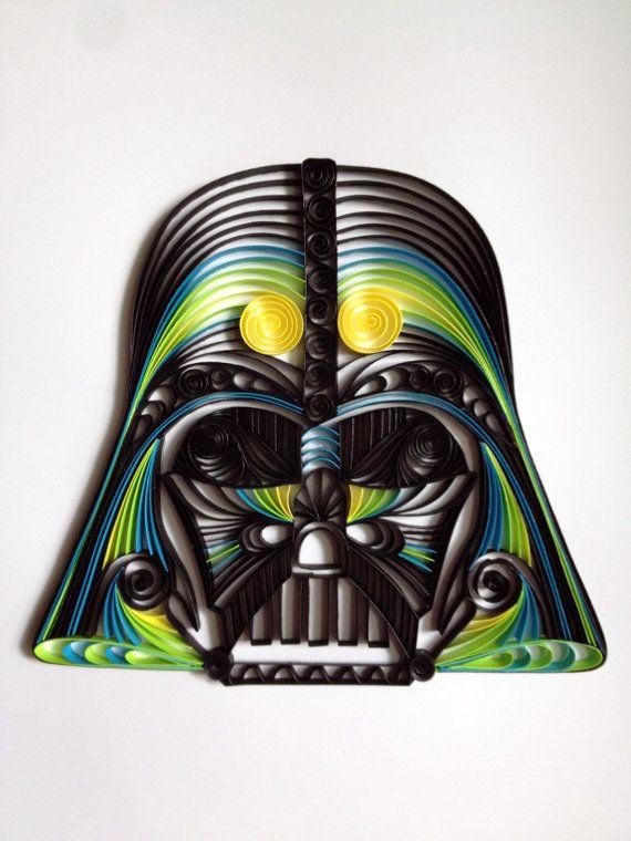 Star Wars quilling artpiquants Darth Vader Helmet par AliaDesign