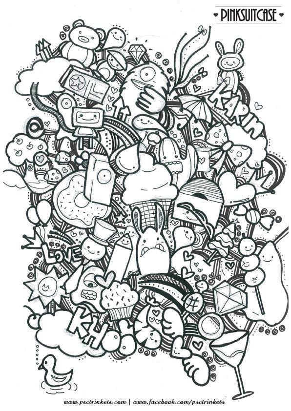 Die besten 25 doodle monster ideen auf pinterest for Doodle art monster