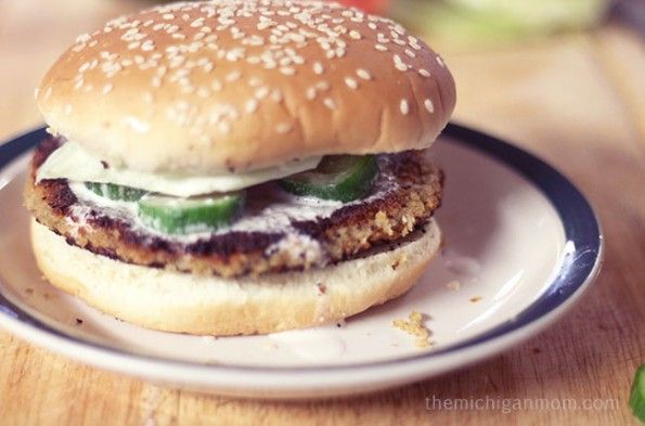 The Michigan Mom Falafel Burger and Tahini Sauce- The Michigan Mom
