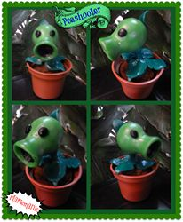 Disparaguisantes o Peashooter de Plantas vs Zombies :)