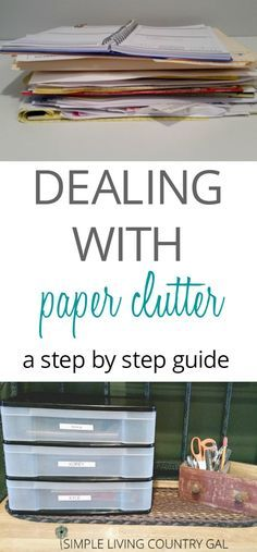Paper clutter can quickly take over our homes, setting up systems to handle the paper will keep things organized and efficient. via @SLcountrygal
