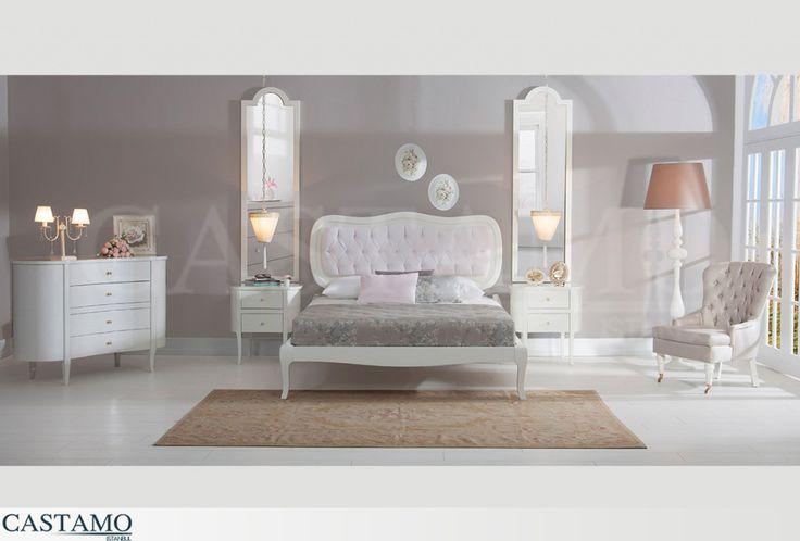 Beyazdan kreme zarif bir renk paletini ahşapla buluşturan tasarımlarla yatak odanızda romantik bir stil yakalayın.  #castamo #mobilya #dekorasyon #tasarım #yatak #odası #bedroomm