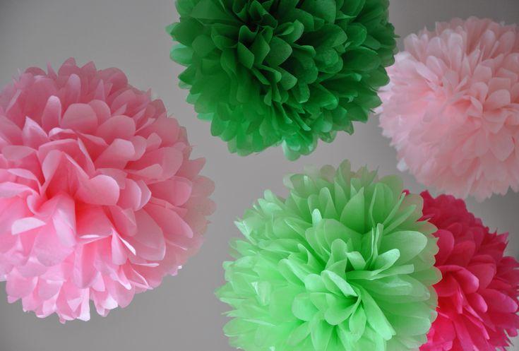 green apple baby shower | ... Paper Pom Poms | Birthday Party | Baby Shower | Preppy | Custom Colors