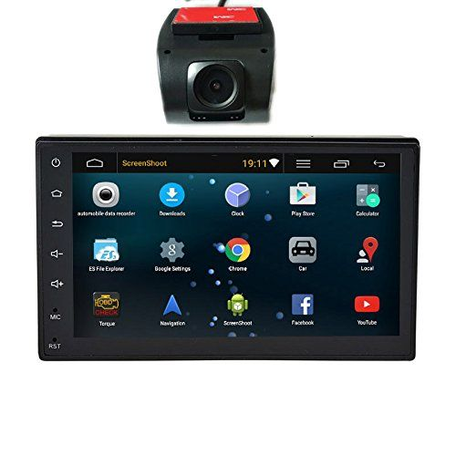 """Henhaoro 2 din Android 5.1 Car Stereo Gps Navigation Player Touch Screen No DVD no CD 7"""" Resolution 1024x600 gift HD DVR Dash Camera  The face dimension are not standard US 2DIN it is W: 7in(178mm) H: 4.02in (102mm); install dimension: W:7in (178mm)xH:3.94in (100mm) Android 5.1 system,WiFi Built In Capacitive Touch Screen, Resolution 1024 x 600 iNand Momery 16GB Support OBD2 DVR (get the gift back camera, you need add the camera to your cart )  4-core Built In Bluetooth For Callphone H..."""