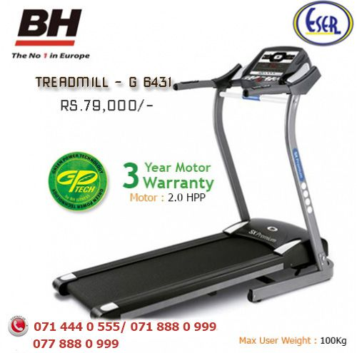 Smart-Fold body framework is the new design concept of  Eser Marketing BH treadmill it helps you to save storage space