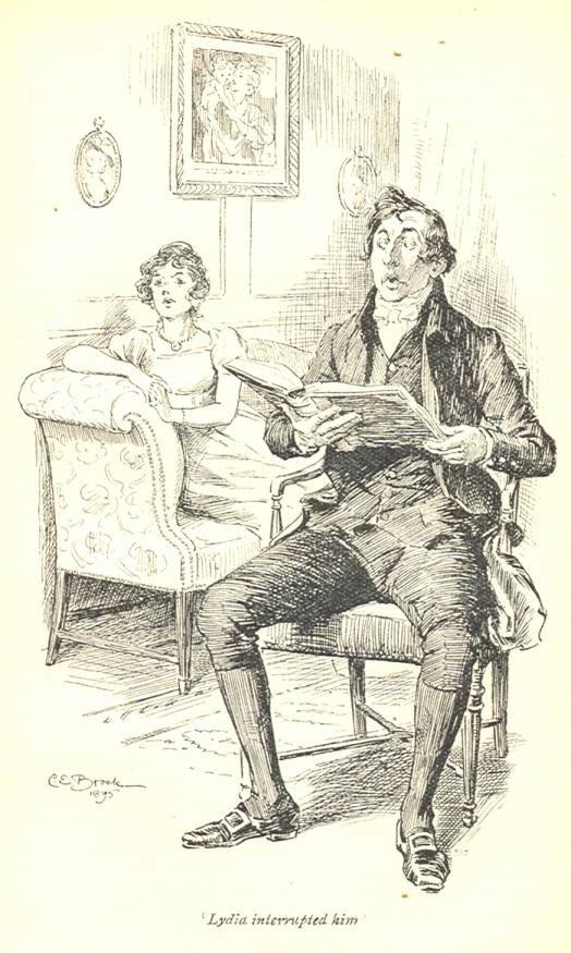 Lydia interrupted him - Pride & Prejudice, 1895