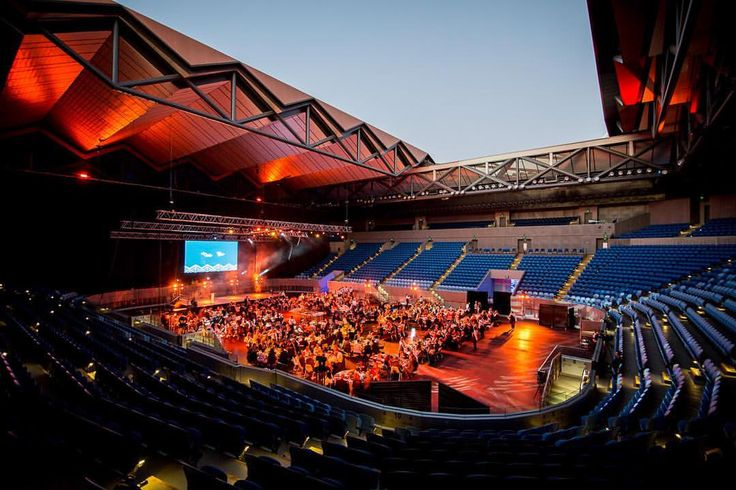 "Melbourne & Olympic Parks on Instagram: ""Magnificent Margaret Court Arena!  @mcourtarena @microhire_au @placesettings @glasshausnursery @tablearteventhire #banquet #dinner #victoria #events #eventstyling #eventdesign #outdoordining #melbourneparkevents #margaretcourtarena"""