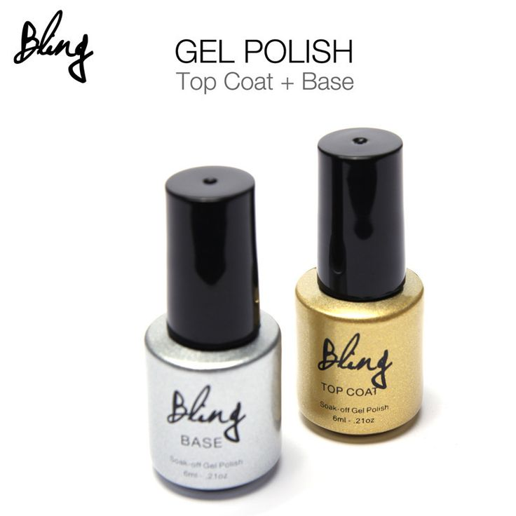 Bling Nail Art 6ml Base Gel Primer Coat  6ml Top Coat Sealer Dimand Bright No Cleanse Phototherapy Kit Manicure Cosmetics SMRP #Affiliate